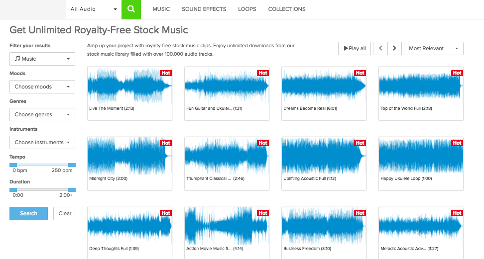 Audioblocks: Unlimited, Royalty-Free Audio Downloads — Pro