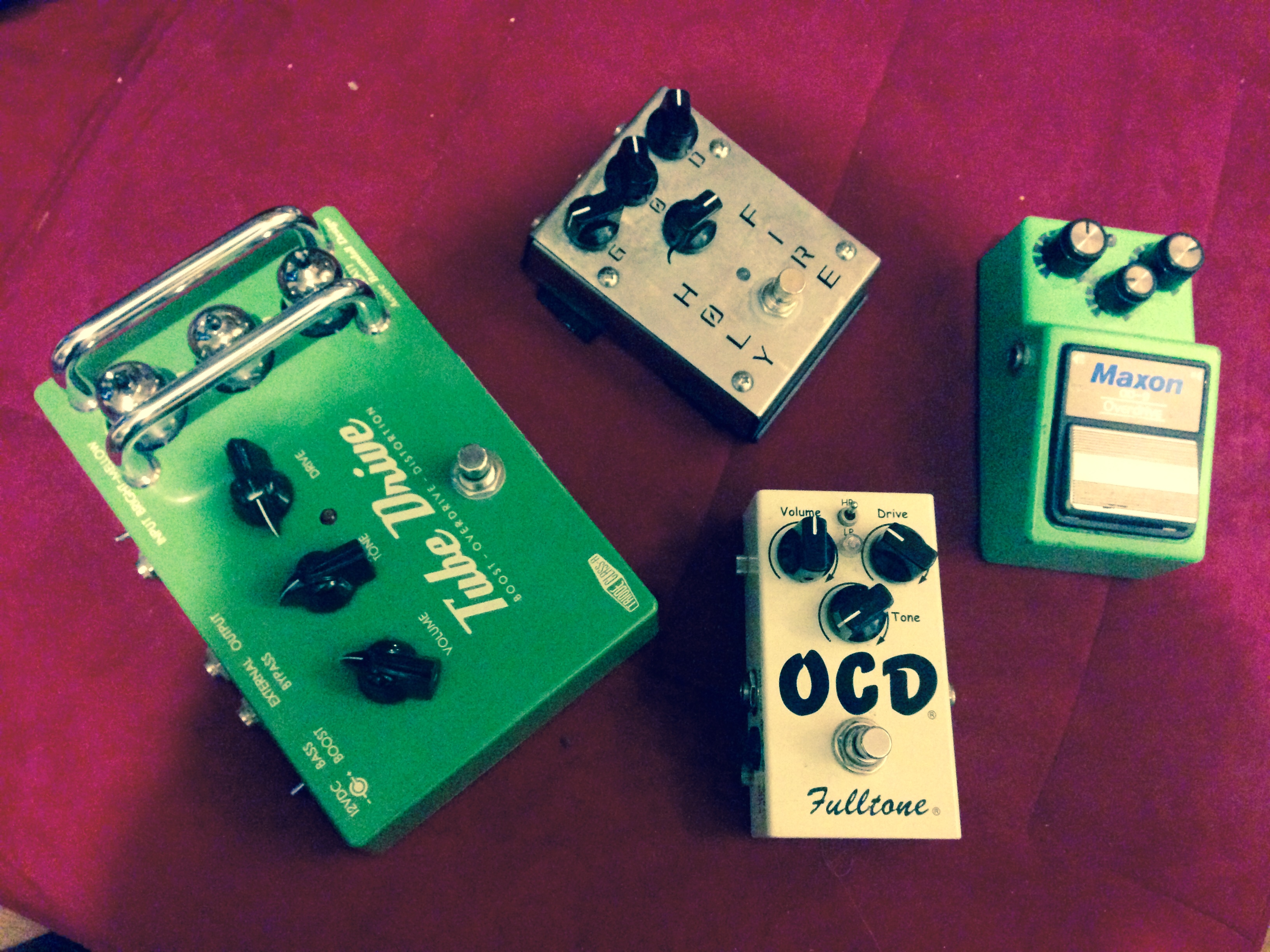 cascading overdrive pedals