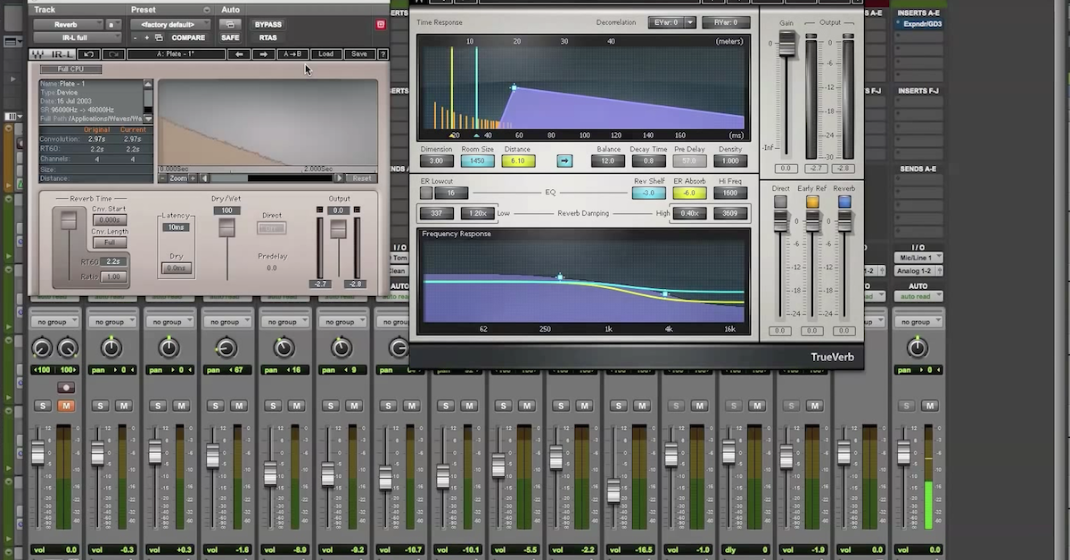 Reverb Comparison: Convolution vs Algorithmic (Waves IR-L vs