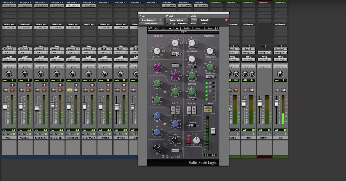 Mixing With Waves Ssl G Channel Strip Plugin Pro Audio Files