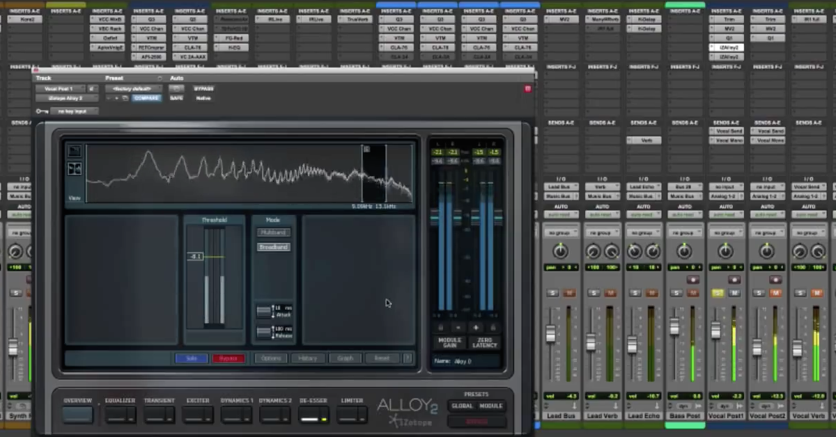 How to De-Ess a Vocal with iZotope Alloy 2 — Pro Audio Files