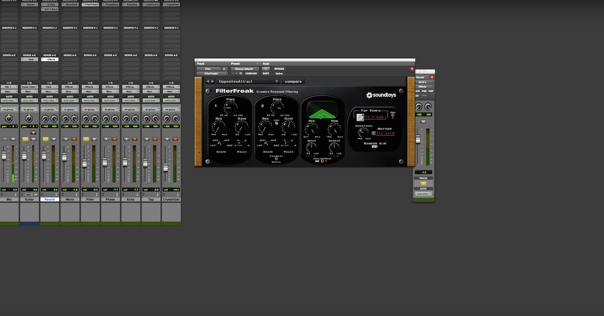 Pad Effect off Guitar Reverb with SoundToys