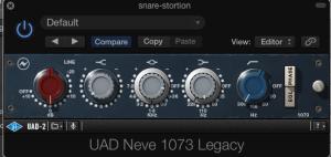 UAD 1073 raw mic