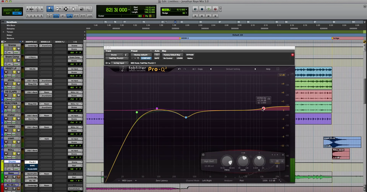Drum Buss Processing w/ FabFilter Pro-Q 2, Shadow Hills Compressor and Studer A800 — The Pro ...