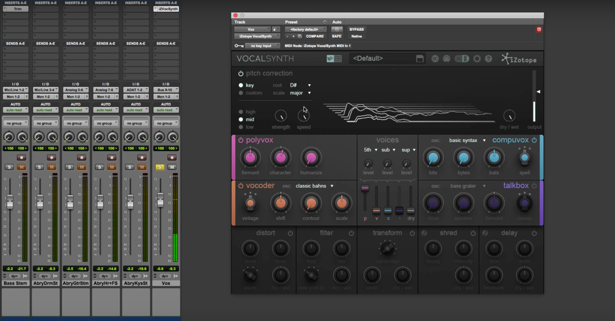 iZotope VocalSynth: Pitch Correction and Presets (Part 1