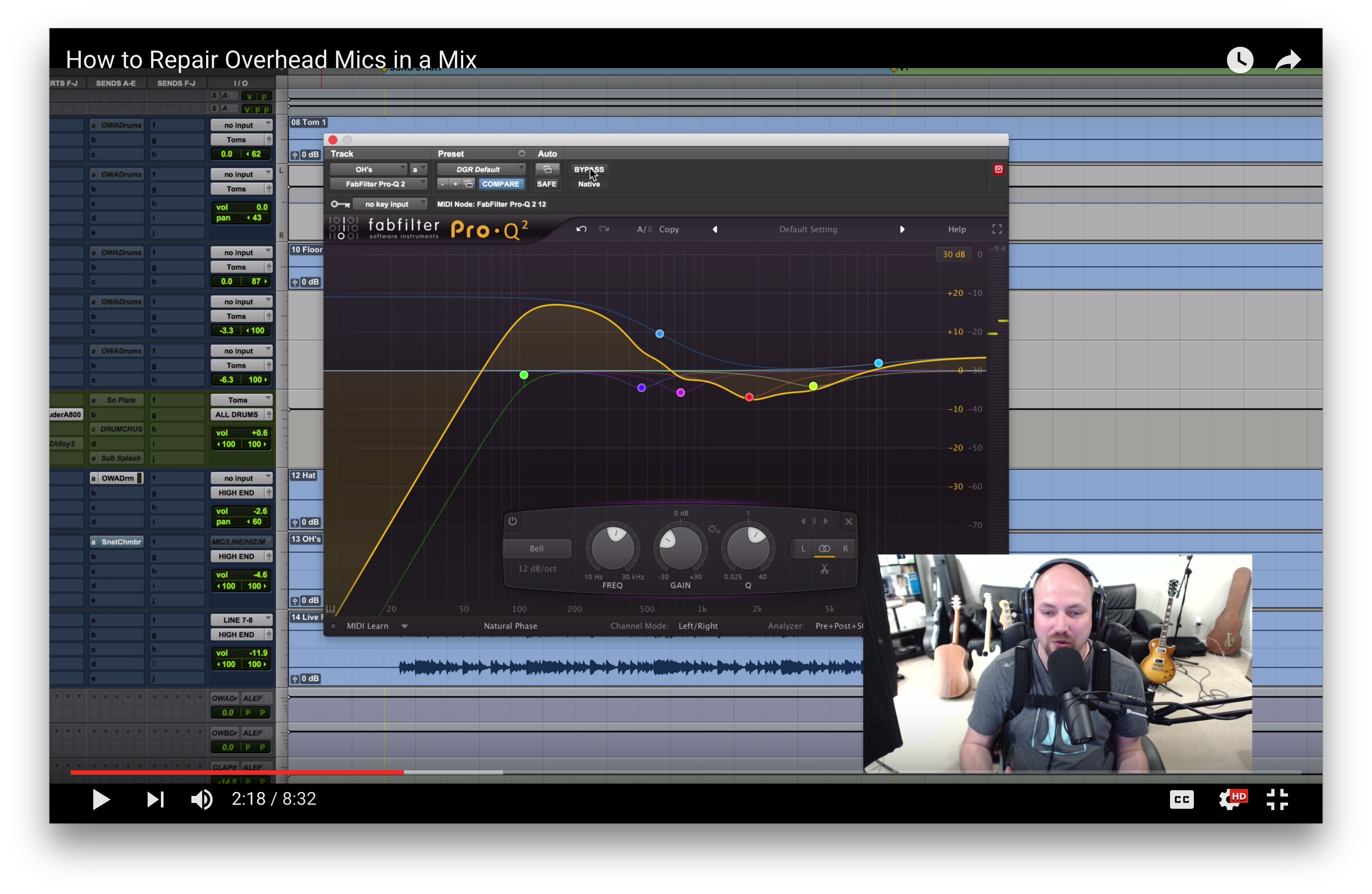how to balance stereo drum overheads u2014 the pro audio files