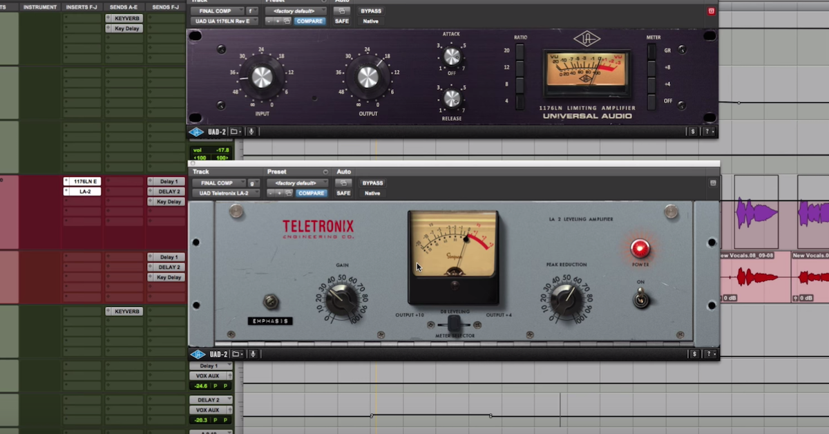 Compression Basics: 1176 into LA-2A on Vocals + CL 1B on