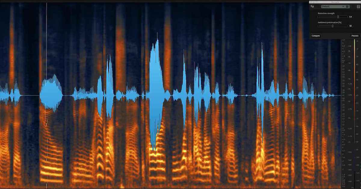 How to Remove Mic Rustle and Noise with De-rustle in iZotope