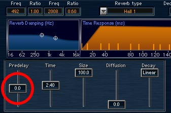 You can use pre-delay to help vocals cut through a mix.