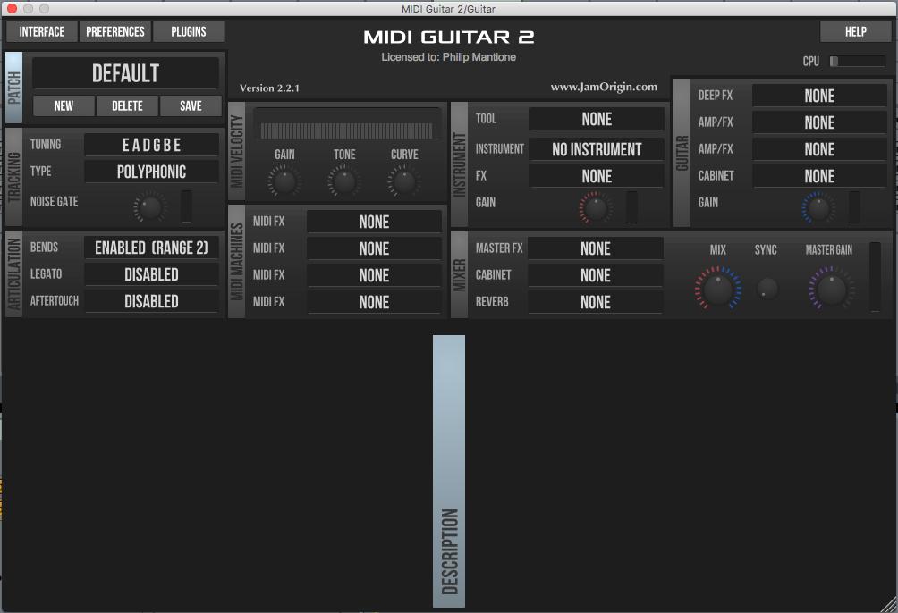 Jam Origin's MIDI Guitar 2 for Live Performance