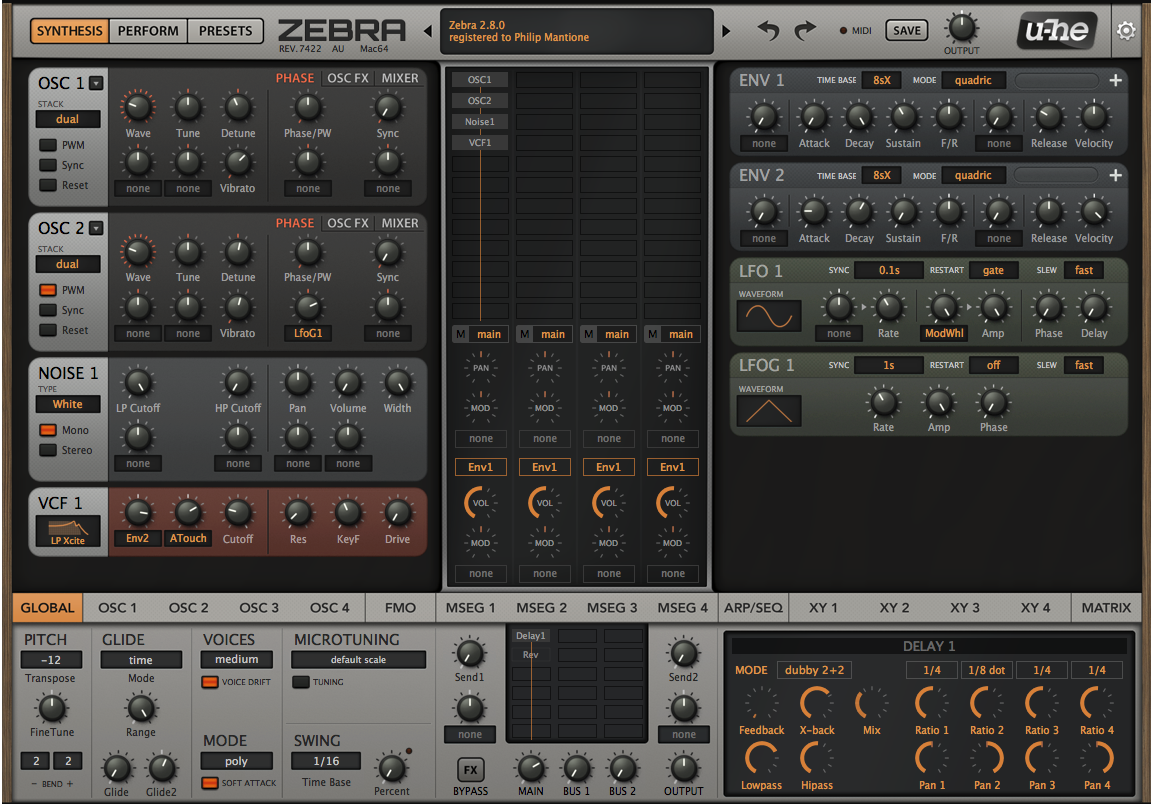Review: Zebra 2.8  — The Workhorse Synth from u-he