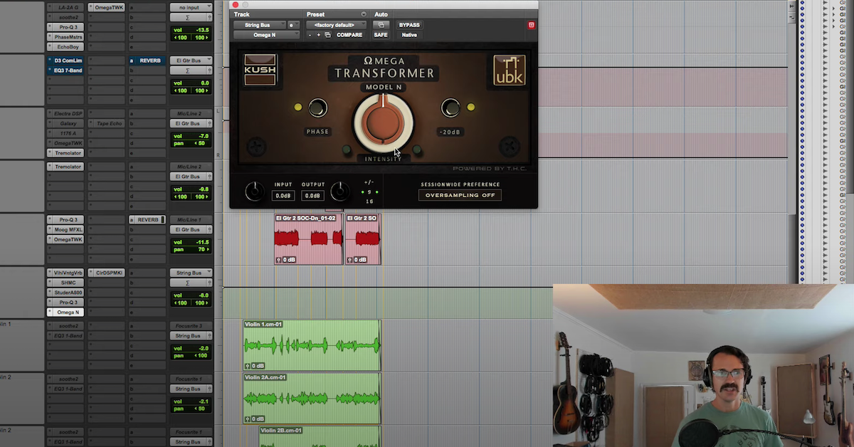 Danny Echevarria works with the Kush Omega-N pluginn in Pro Tools.