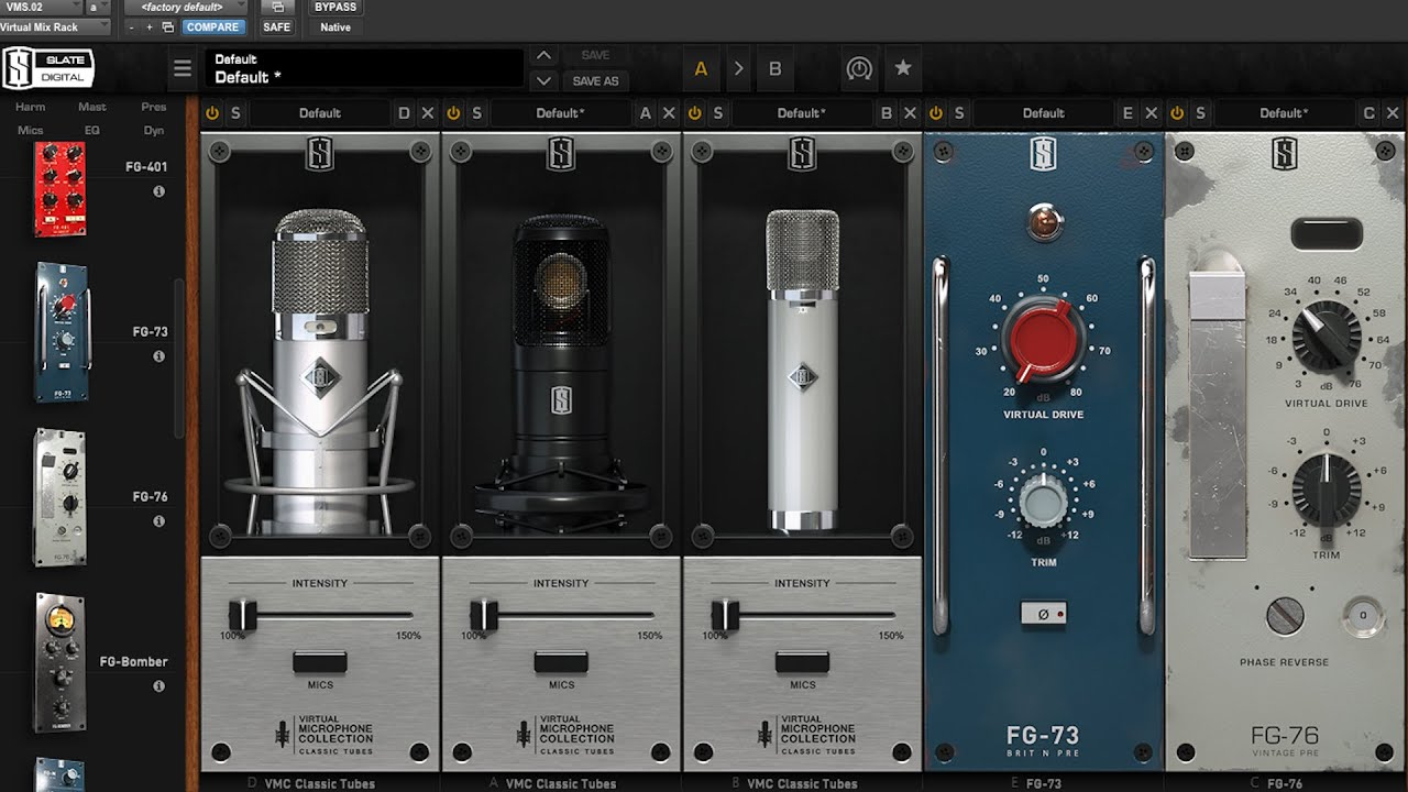 Slate Virtual Microphone & Preamp Collections