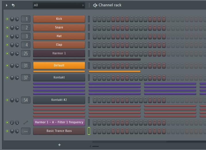 FL Studio Channel Rack