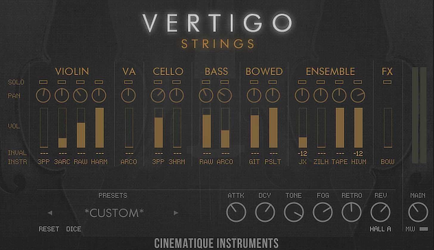 Cinamatique Instruments Vertigo Strings