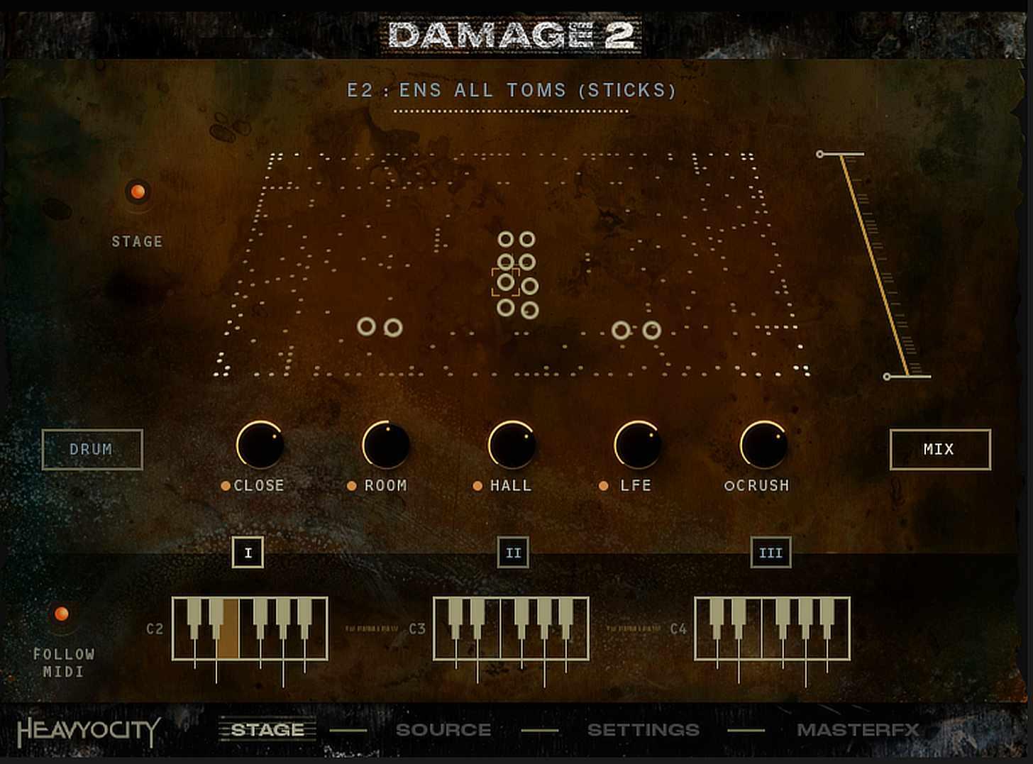 Heavyocity Damage 2 Stage Screen