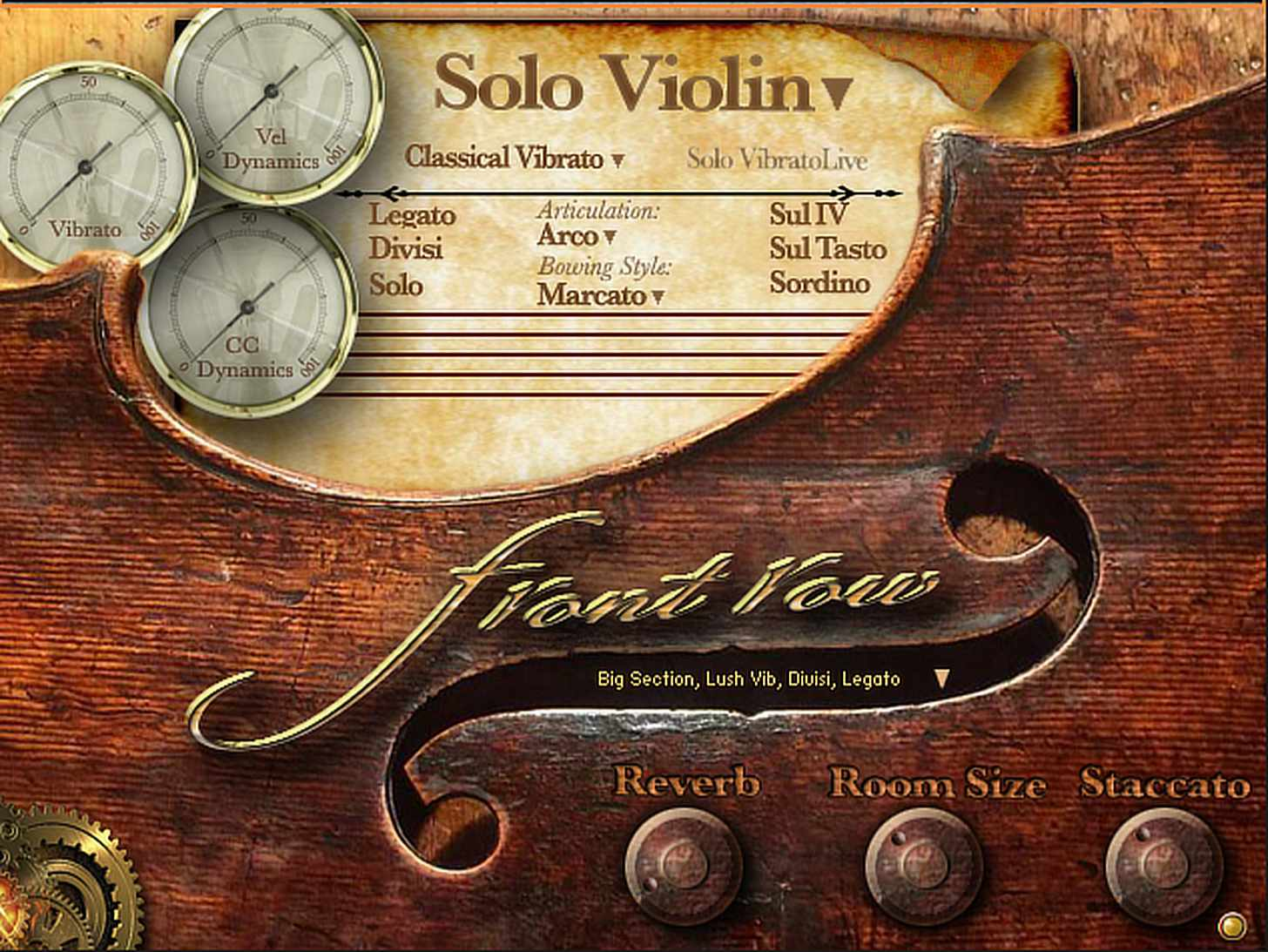 Kirk Hunter Front Row Violins