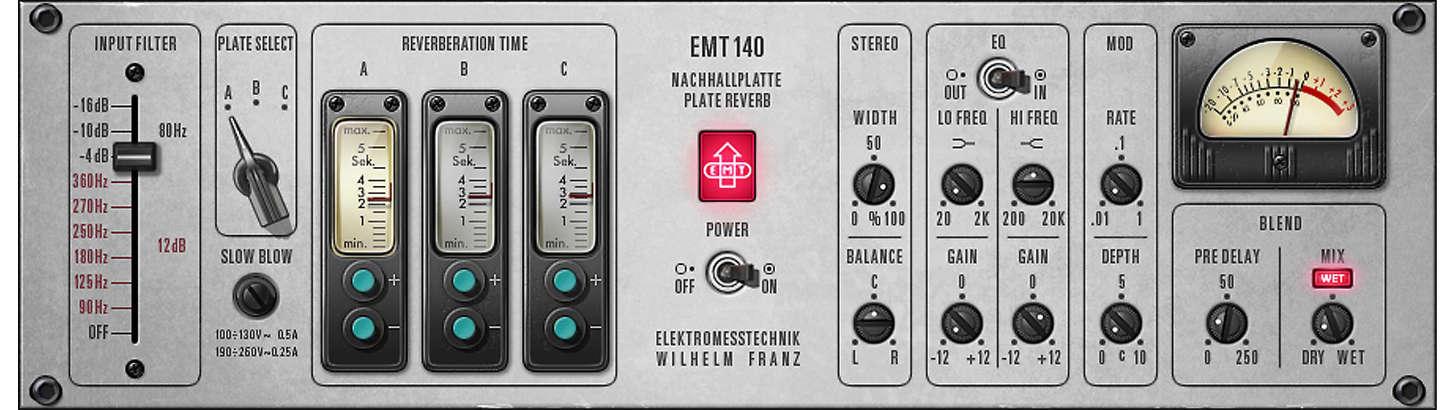 UAD EMT 140 Classic Plate Reverberator