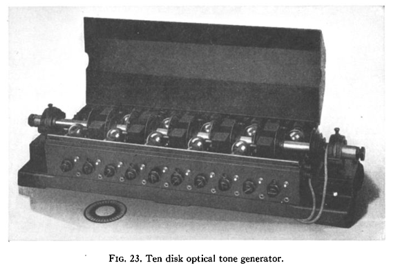 Ten disk optical tone generator