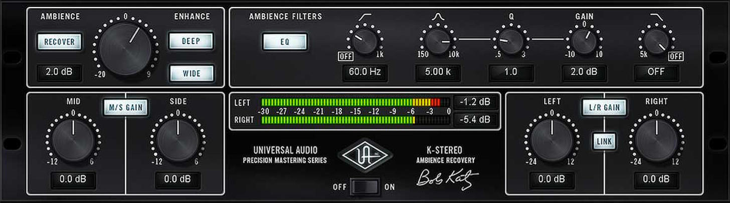 UAD Precision K-Stereo Ambience Recovery