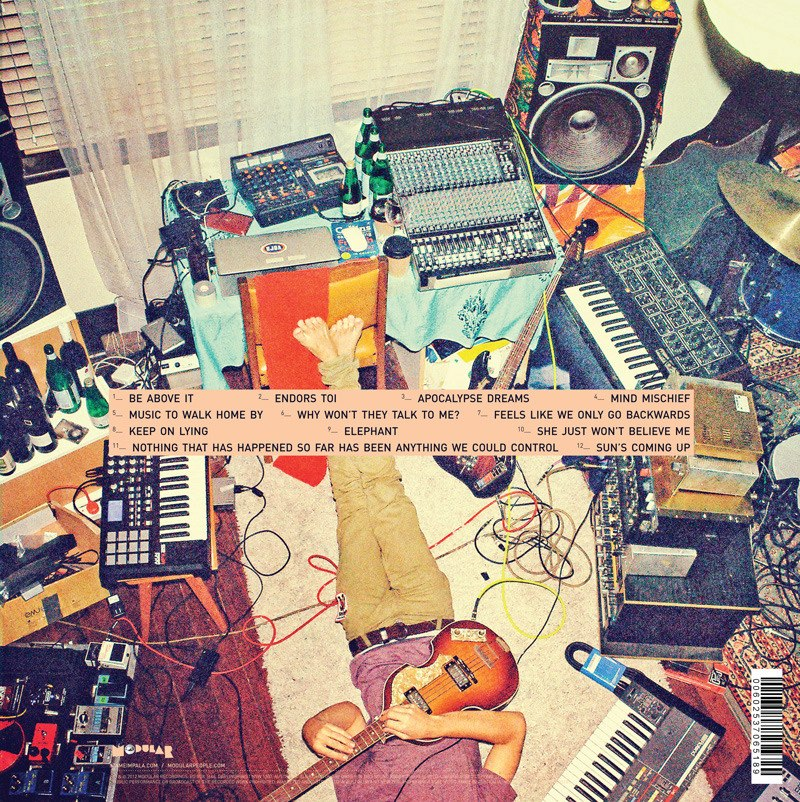 The back album cover from Lonerism by Tame Impala.