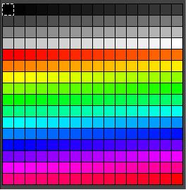 8 bit color palettes